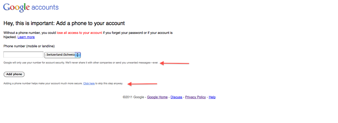 how to make a google account without a phone number
